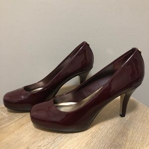 Madden Girl Dark Red / Maroon Patent Pumps